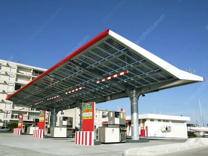 Solar-powered petrol station