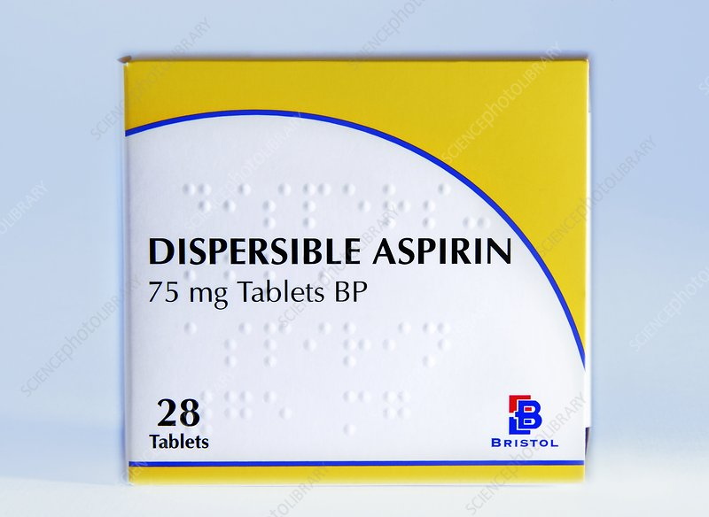 Dispersible aspirin box