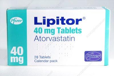 Cholesterol lowering drug packaging