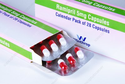 Ramipril blood pressure drug
