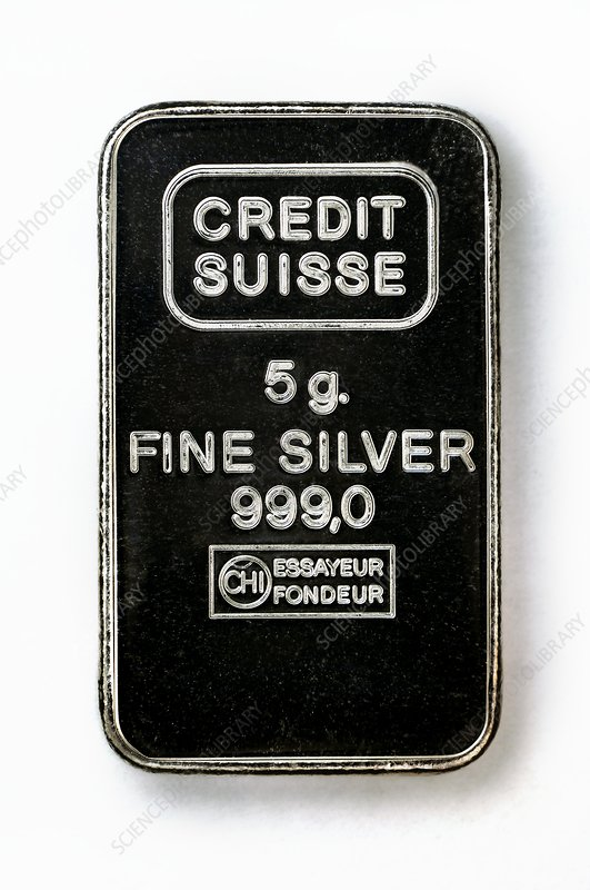 Swiss silver bar