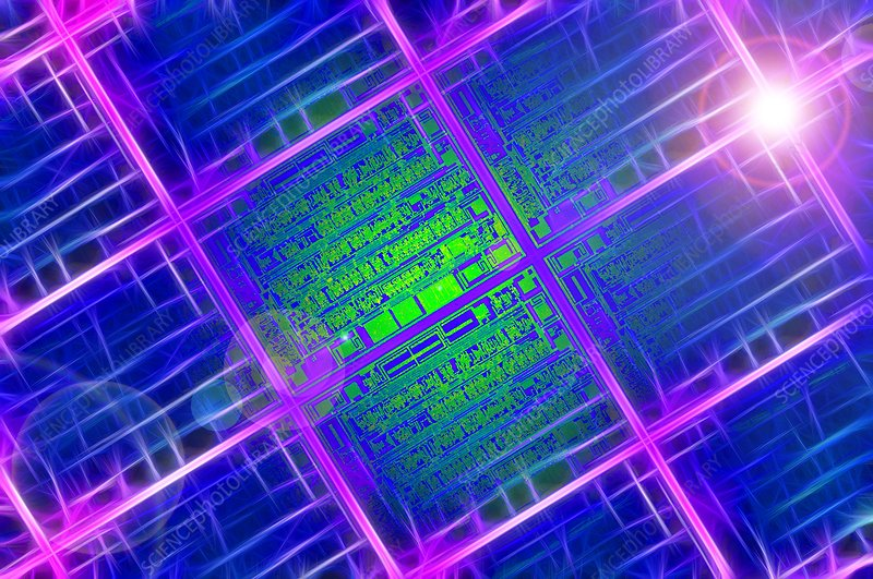 Silicon wafer, conceptual artwork