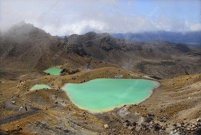 Volcanic lakes, New Zealand