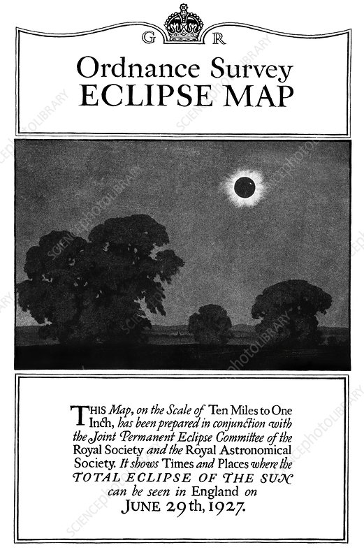 Ordnance survey eclipse map cover, 1927