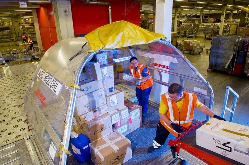 Parcel processing centre