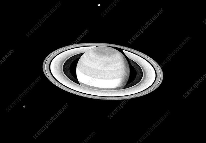 Saturn, engraving