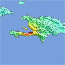 2010 Haiti earthquake intensity map