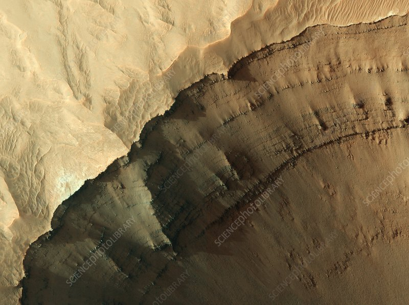 Ganges Chasma valley wall, Mars