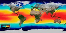 Sea surface temperature, 2005 global map