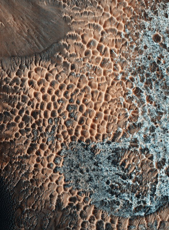 Martian central-peak crater floor