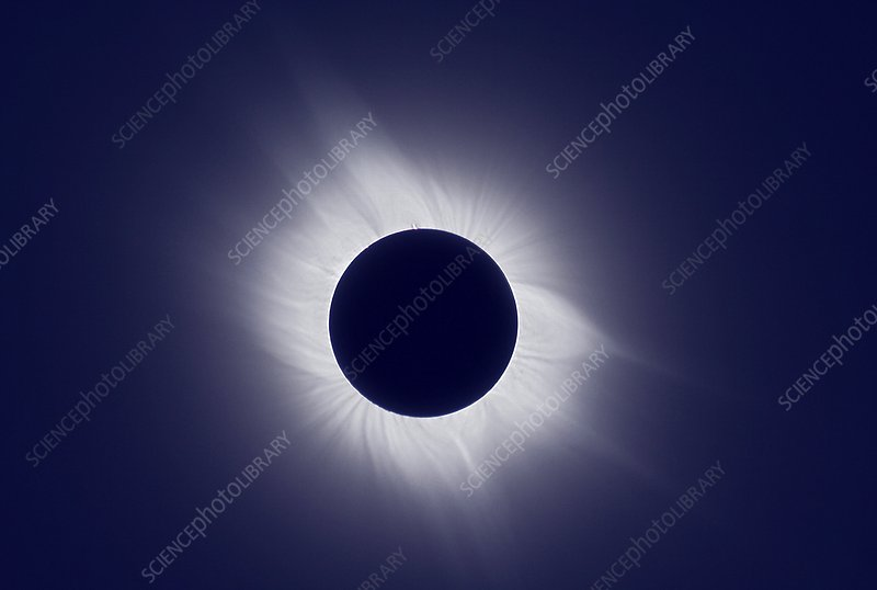 Total solar eclipse at totality