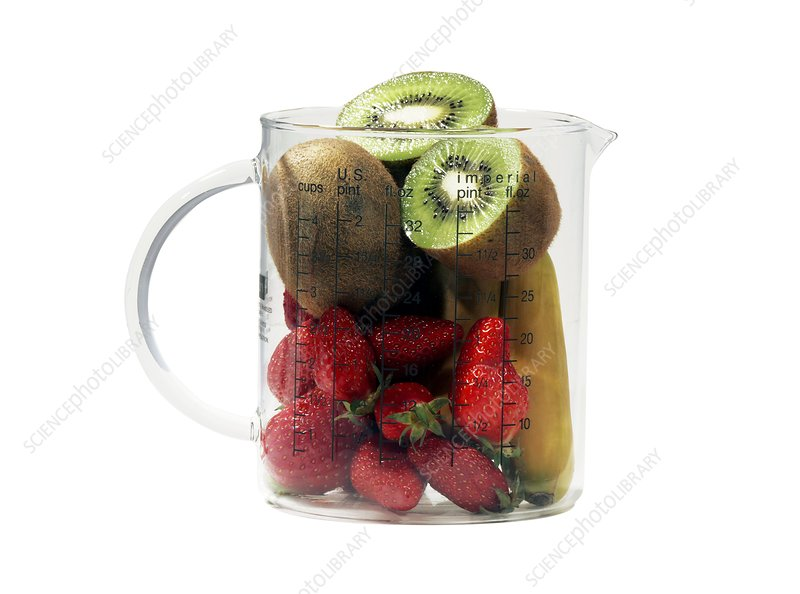 Fresh fruit in a jug