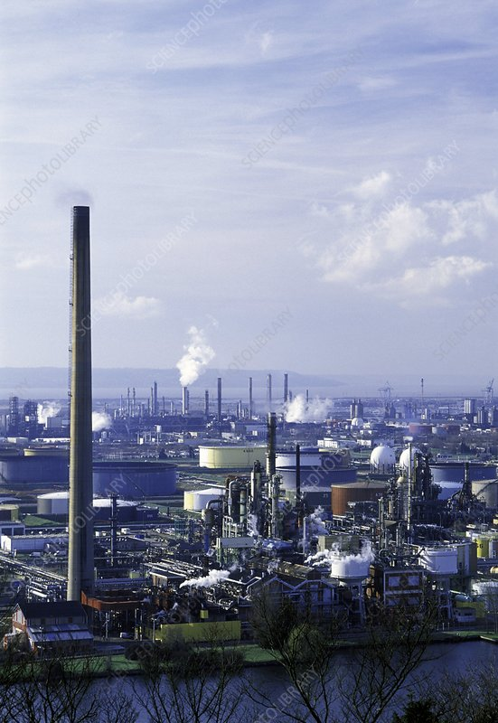 Oil refinery, France