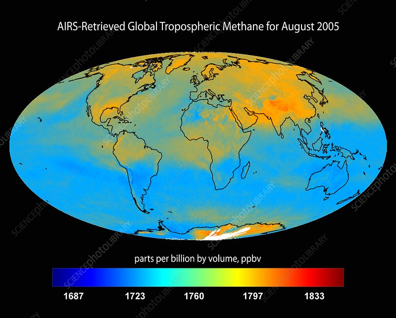 Global tropospheric methane, 2005