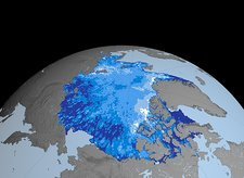 Autumn Arctic sea ice thickness, 2003