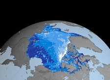 Autumn Arctic sea ice thickness, 2004