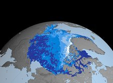 Autumn Arctic sea ice thickness, 2006
