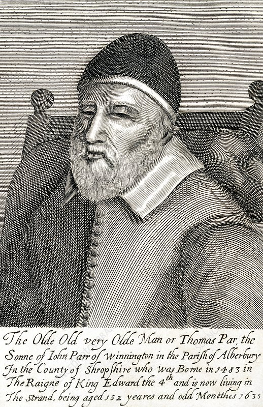 Old Tom Parr, 17th-century Englishman