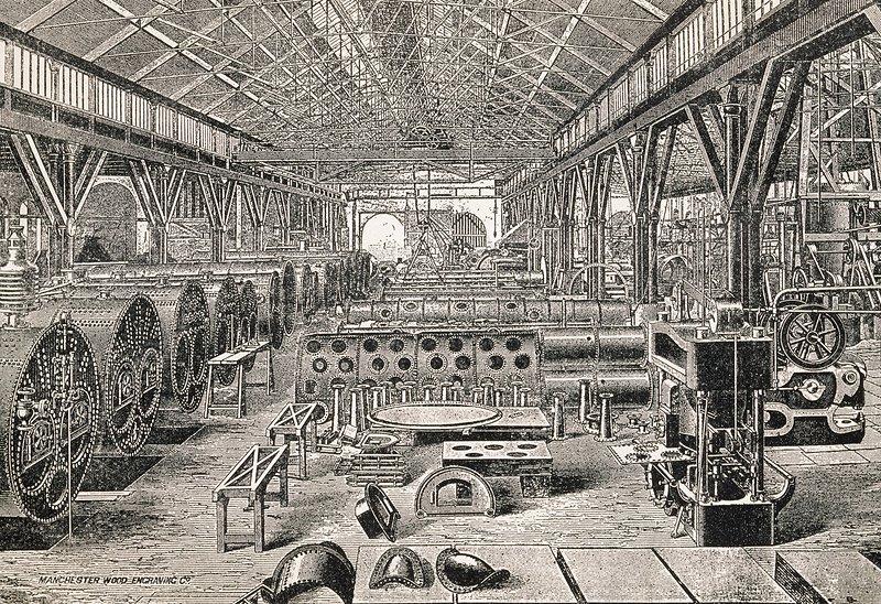 Boiler factory, historical artwork - Stock Image C004/3723 - Science ...
