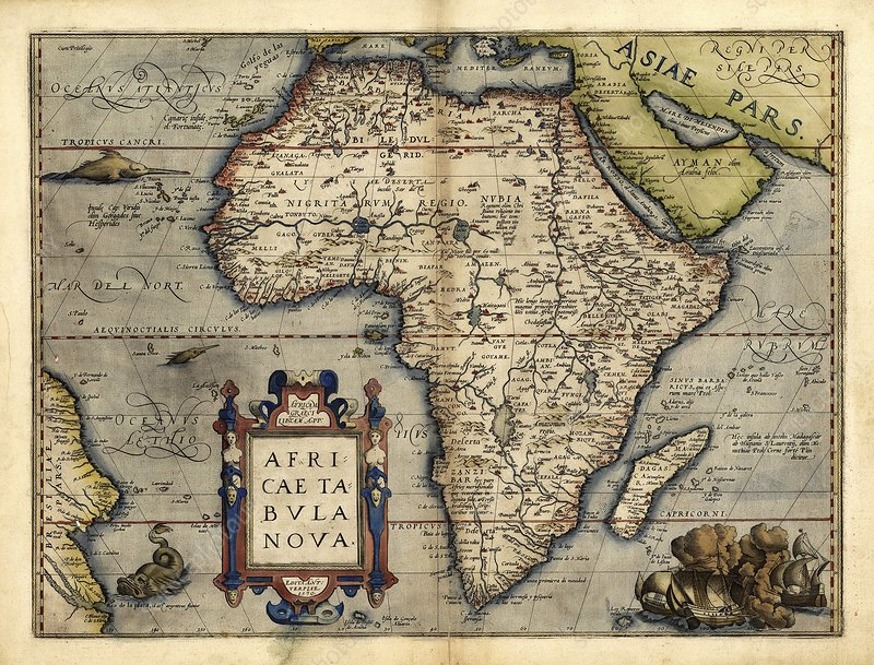 Ortelius's map of Africa, 1570