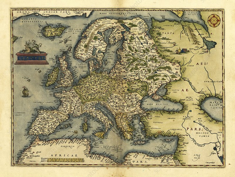 Ortelius's map of Europe, 1570