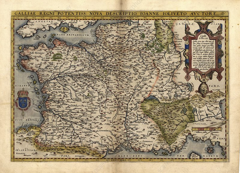 Ortelius's map of France, 1570