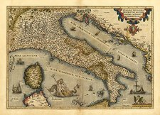 Ortelius's map of Italy, 1570