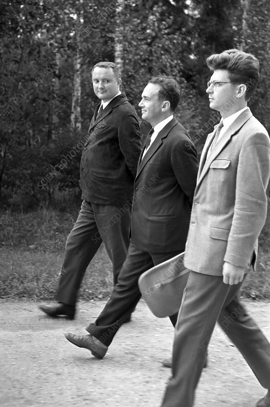 Italian and Soviet physicists, 1963