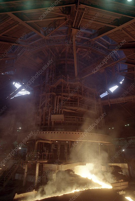 Blast furnace for steel production