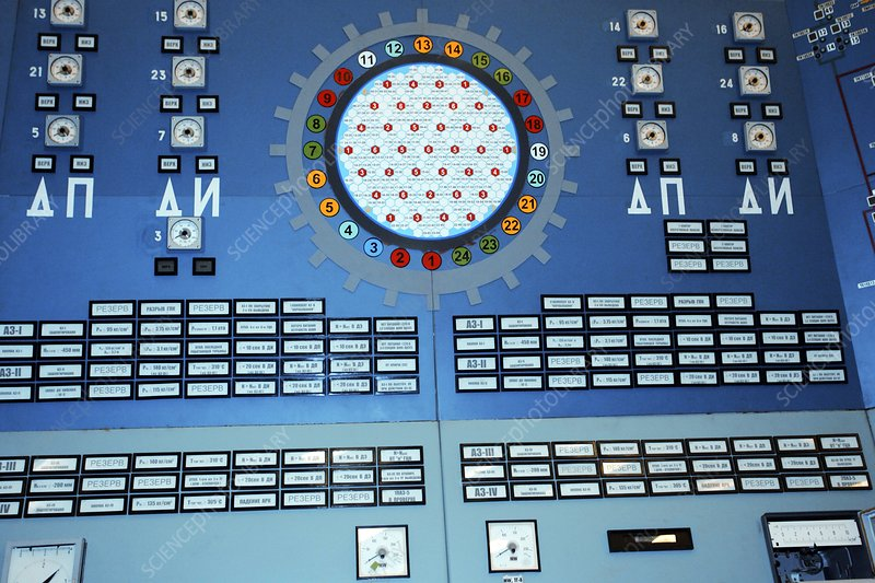Nuclear power station training panel