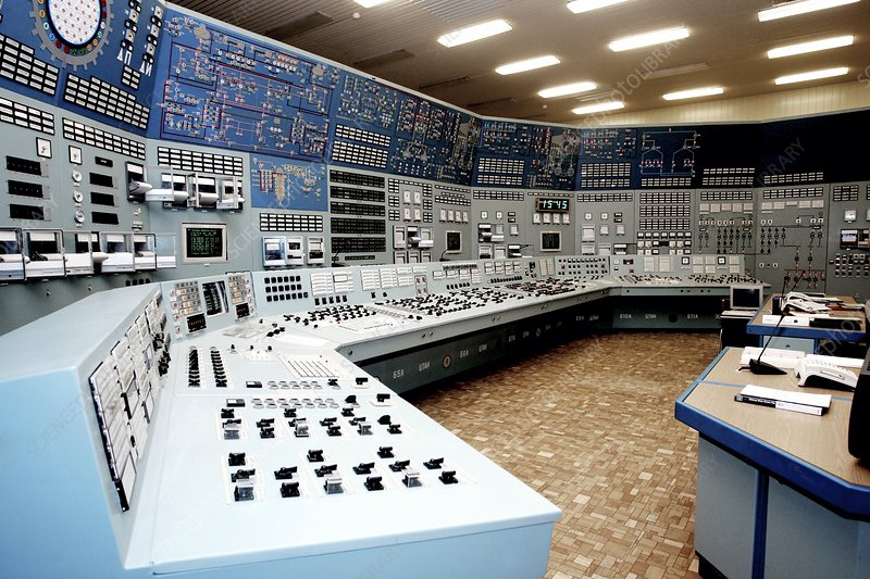 Nuclear power station control room