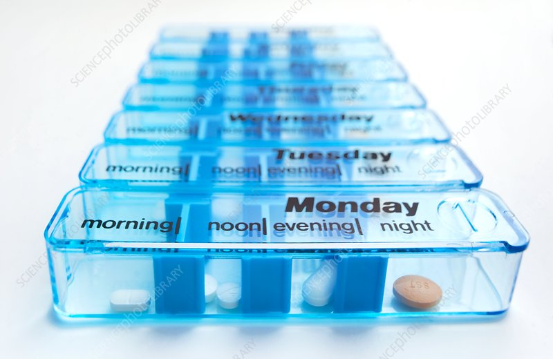 Daily pill container