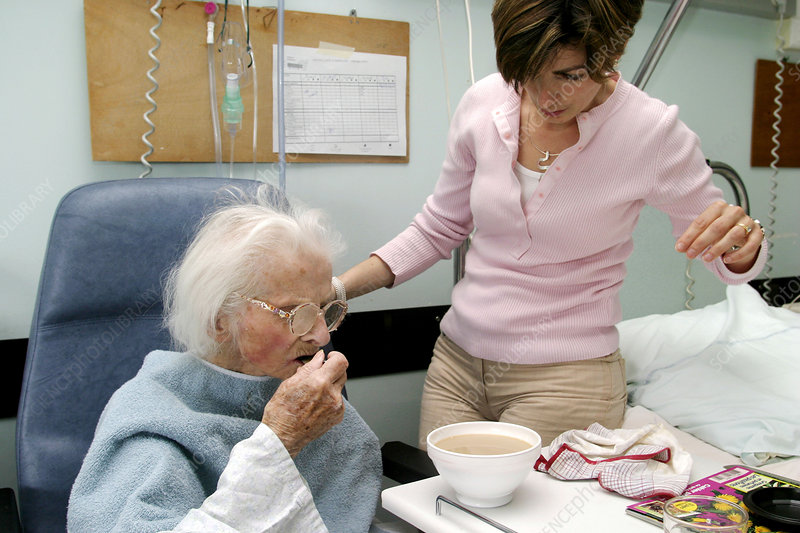Visit, elderly hosp. patient