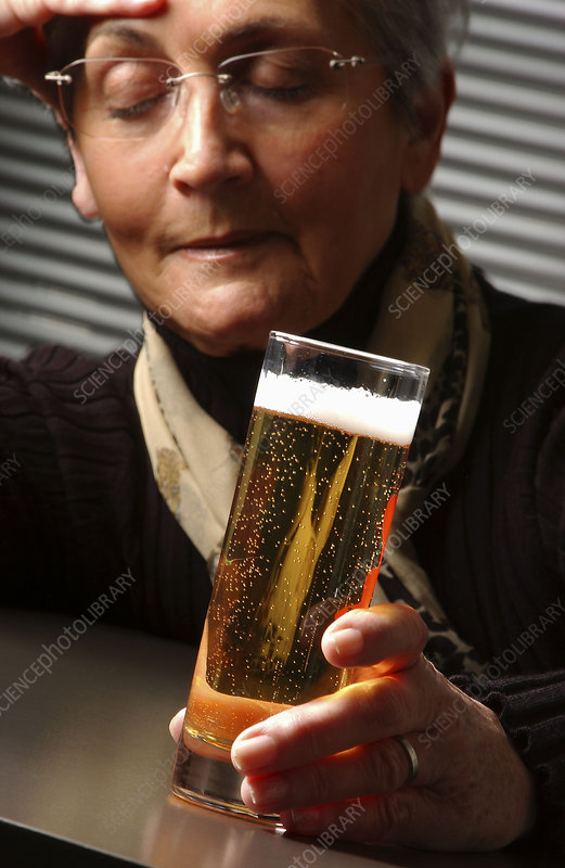 Senior woman drinking