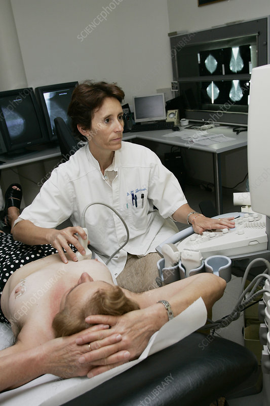 Breast, ultrasound examination