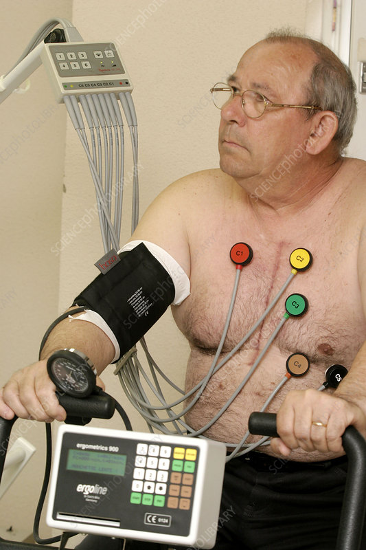 Stress test, elderly person