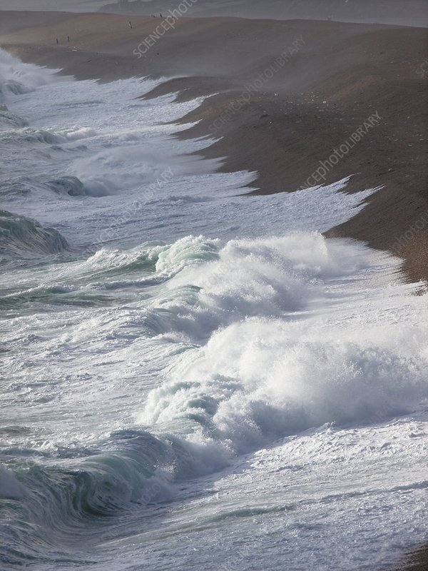 Storm waves at Chesil Beach