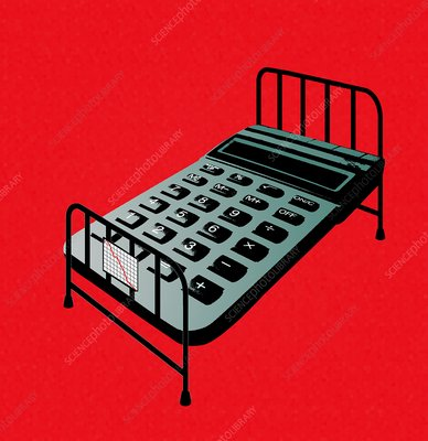 Hospital bed costs, conceptual image