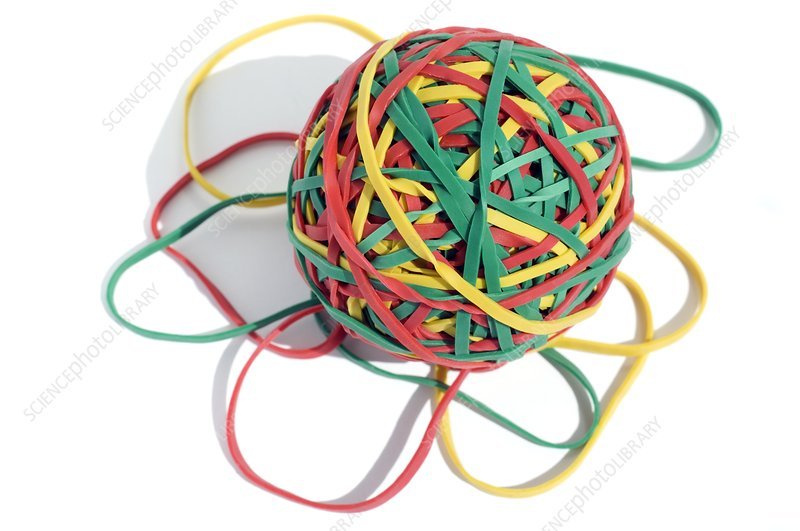 Ball of rubber bands
