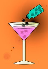 Spiked drink, conceptual image