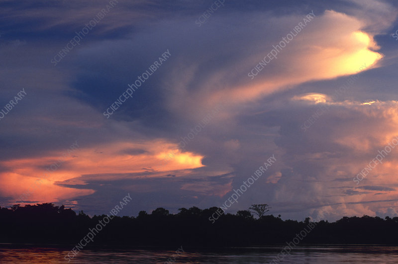 Clouds in the Amazon