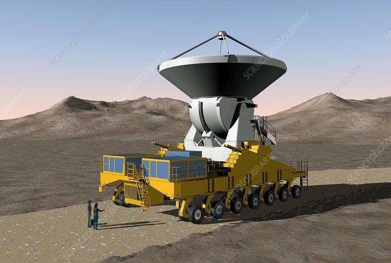 ALMA radio astronomy observatory, artwork