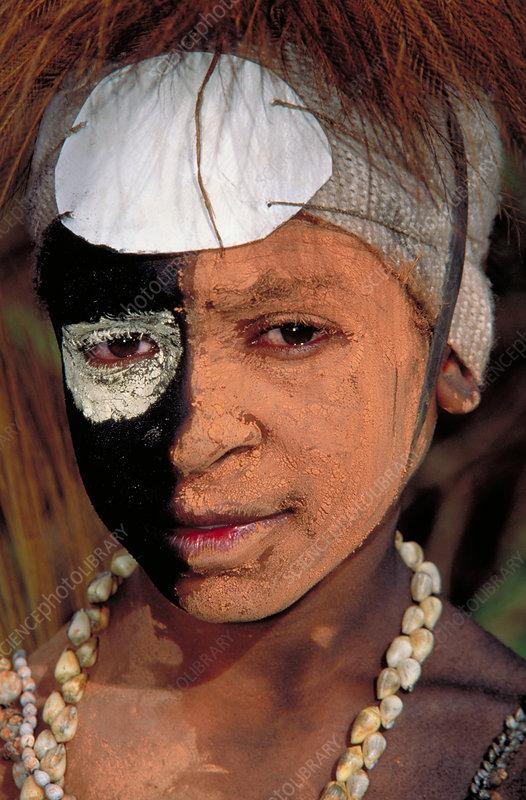 Mt. Hagen tribe member, Papua New Guinea
