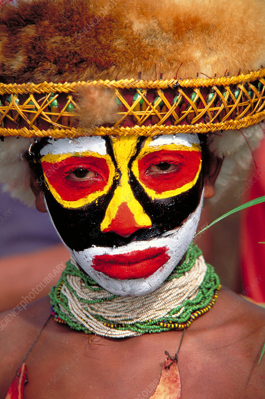 Person of the Panga tribe. Papua, New Gui