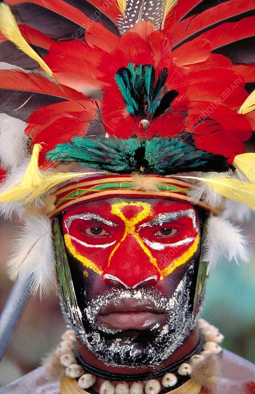 Man of the Panga tribe. Papua, New Guinea