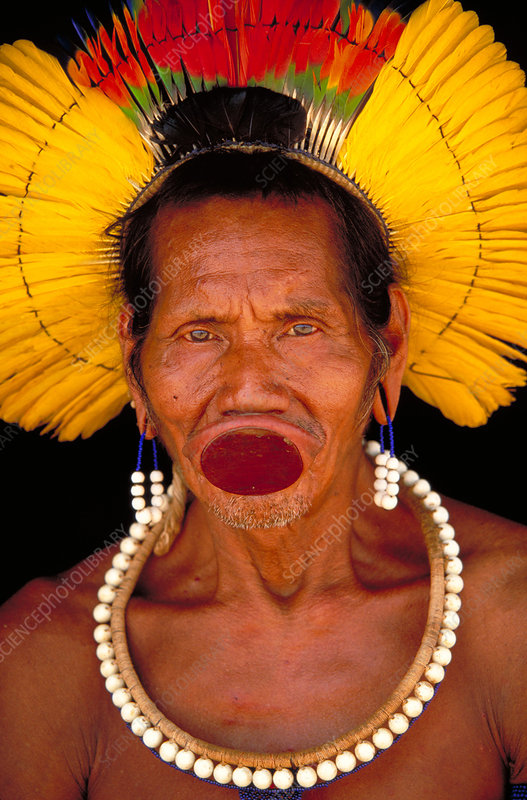 Man of the Kayapo tribe. Para, Brazil