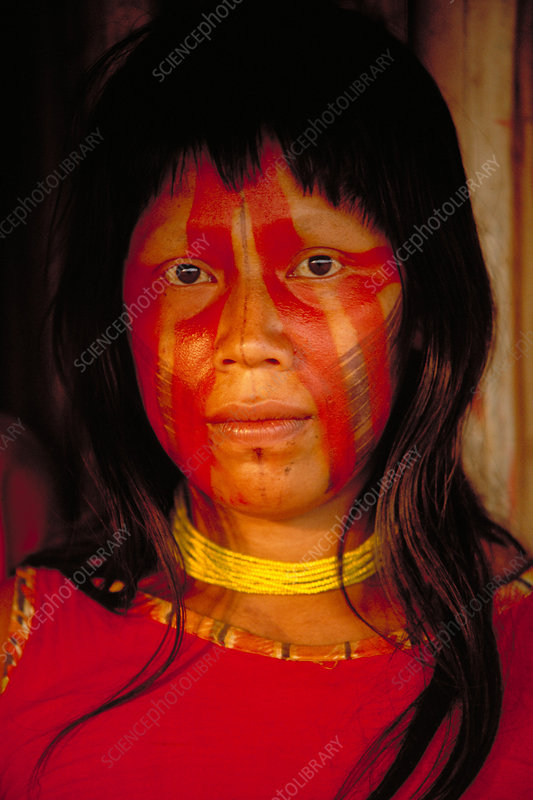Kayapo woman of the Para region. Brazil