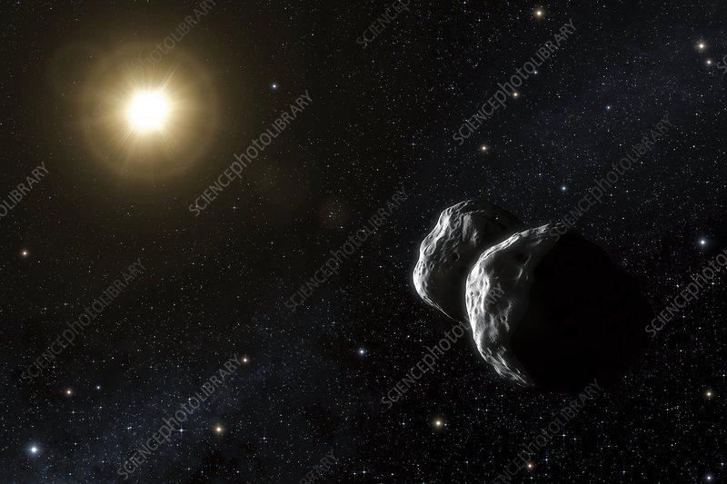 Asteroid 234 Barbara, artwork