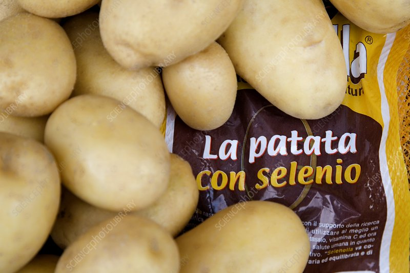Selenium enriched potatoes