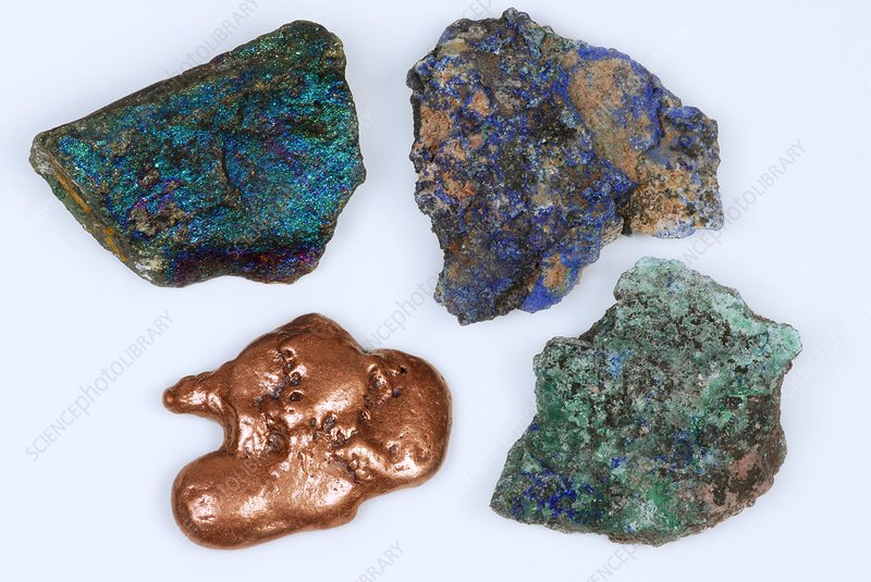 Forms of copper ore